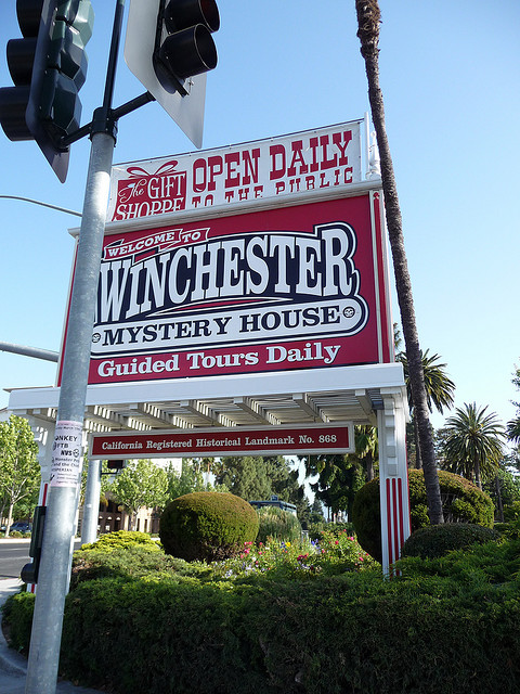 Sign For Winchester Mystery House Tour