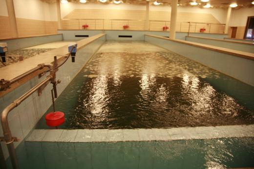 Inside the water purification plant of Lac de Bret, Switzerland.