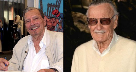Ken Bald (left) and Stan Lee (right)