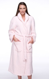 A Microfiber Bathrobe for Women