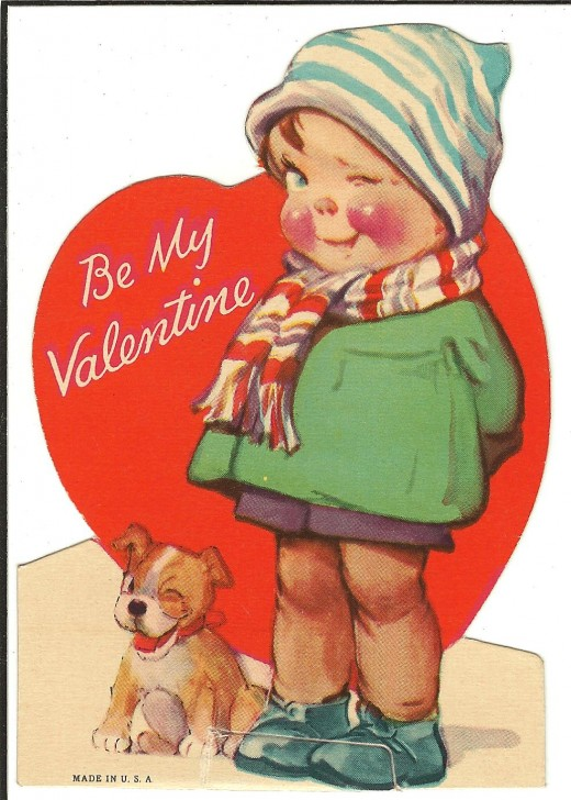 A vintage valentine from my collection. Remember exchanging these at school each February?