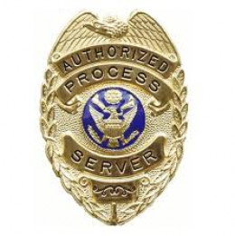 Some states have servers carry a badge for identification.