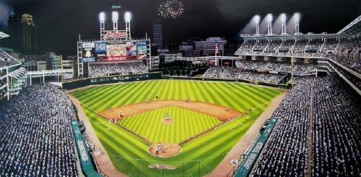 HOME OF THE CLEVELAND INDIANS: JACOBS FIELD