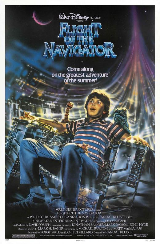 "Poster for ""Flight Of The Navigator"""