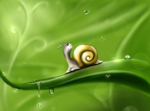 """""""And we are kind to snails."""""""