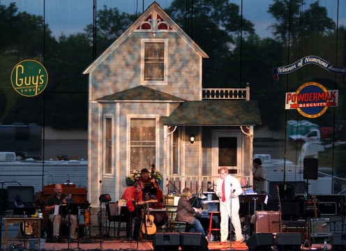 Garrison Keillor and his show at the State Fair.