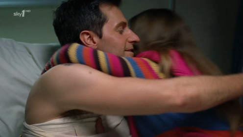 This is an acceptable hug for friends who have not seen each other for months.