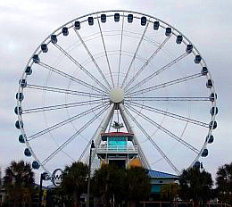 The Myrtle Beach Skywheel is one of the many attractions that stays open in the winter.