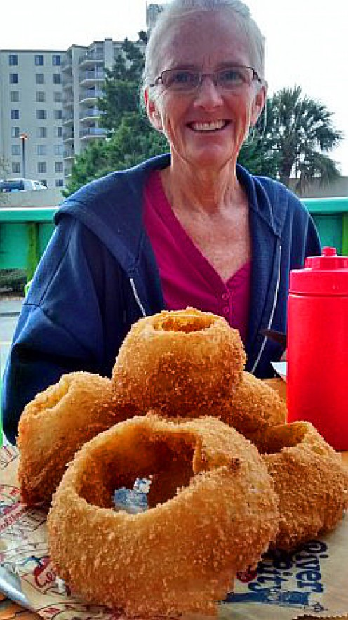Myrtle Beach has numerous cafes that offer, well, really big onion rings.