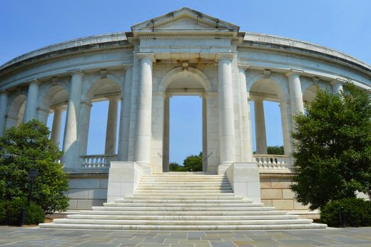 The white-marbled Arlington Amphitheater is the site of three major ceremonies every year. © Scott Bateman
