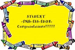 Elementary School -  Student           Ambassador Program