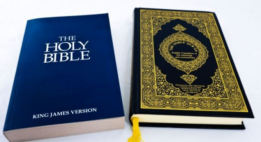Bible and Quaran, the Two Holy books used by Christians and Muslims in Nigeria