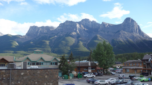 Canmore. View from our balcony.