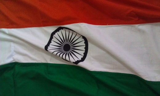 Indian National Flag By	Jpoonnolly [CC-BY-SA-3.0-migrated (http://creativecommons.org/licenses/by-sa/3.0/)], via Wikimedia Commons