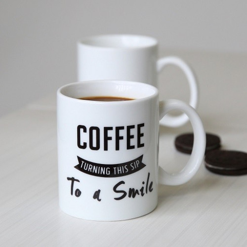 Coffee quote mugs