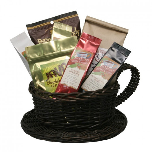 Coffee mug basket (gift basket)