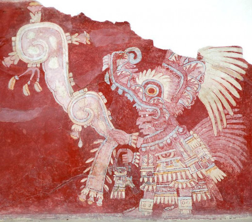 Mural of Ancient God