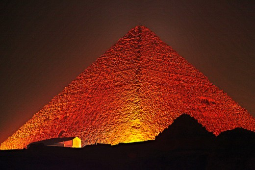 The Great Pyramid of Giza. This is the oldest and largest of the three pyramids at Giza.