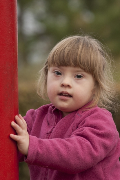 A beautiful little girl with Down Syndrome!