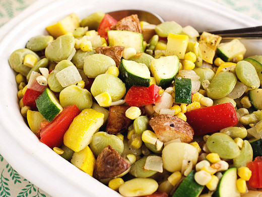 Succotash is a delightful and healthy dish showcasing corn, vegetables and beans. Discover how to boost its appeal with fabulous extra ingredients