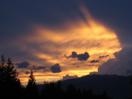 I caught this photo one evening as the sky was setting in the west  of Madawaska, Maine.