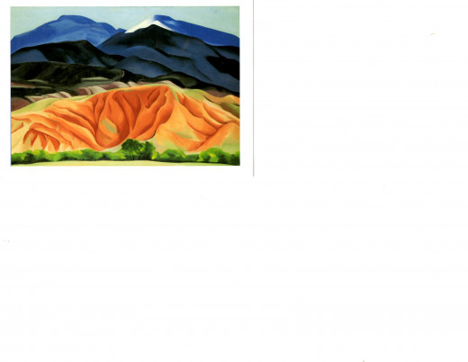 O'Keefe's Black Mesa landscape painting