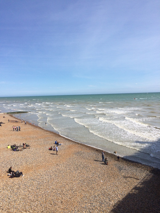 Brighton's pebble beach