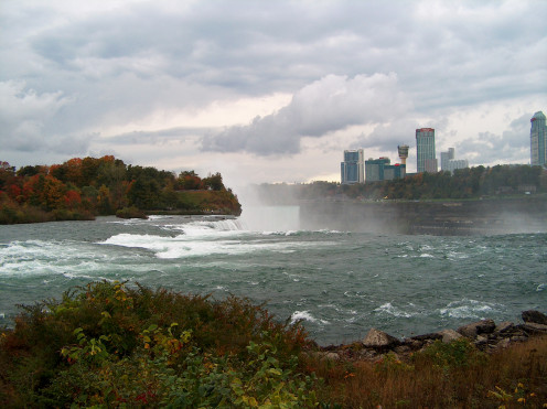Niagra Falls With City View