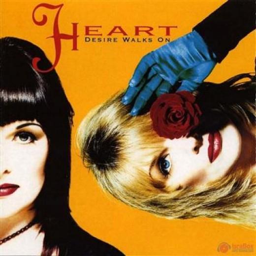 "Front cover of Heart's 1993 album, ""Desire Walks On."""