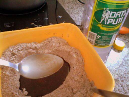 Add the vinegar.