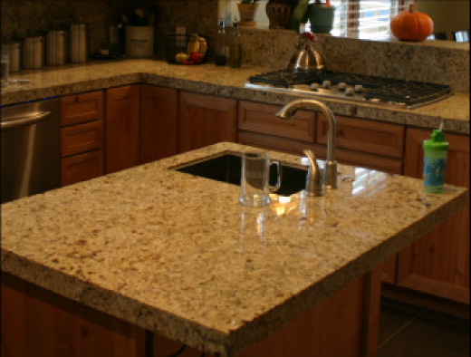 Granite vs solid surface countertops for Solid surface countertops prices per square foot
