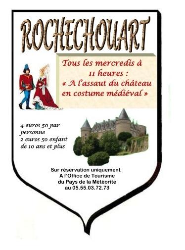 A l'assaut du château en costume médiéval