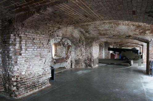 Cannon Placements At Fort Sumter