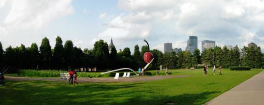 the Spoon cherry at the Minneapolis sculpture garden