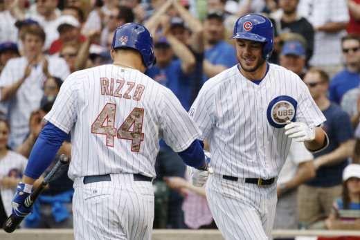 Cubs All-Stars Anthony Rizzo and Kris Bryant