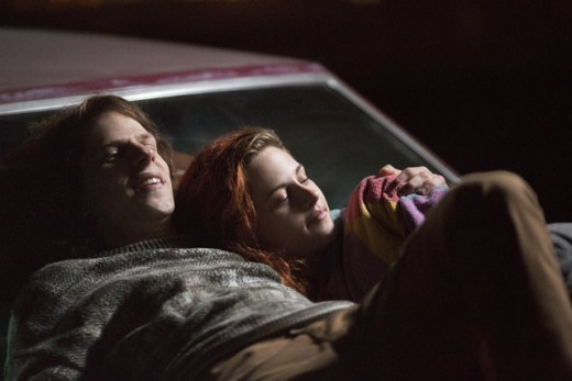 Jesse Eisenberg and Kristen Stewart in American Ultra.