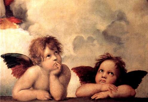 Raphael's portrayal of Cherubs.