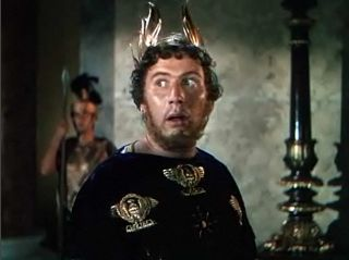 One of his greatest performances: the late Peter Ustinov in the role of the tyrant Nero