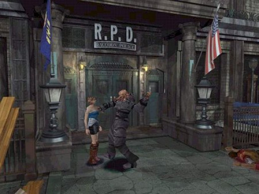 The first encounter with Nemesis in Resident Evil 3: Nemesis