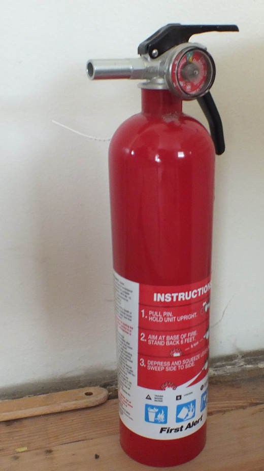One of Our 2 Small Fire Extinguishers for Emergencies