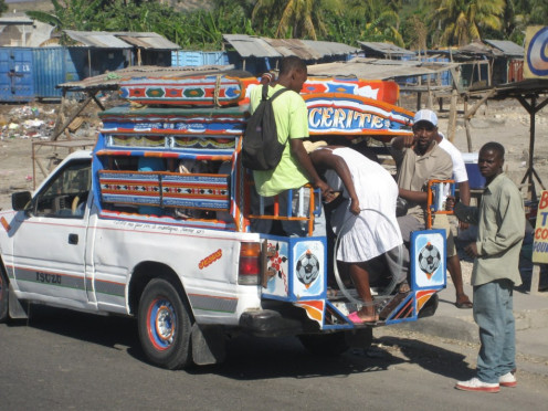 Colorful Haitian Tap Tap Taxi