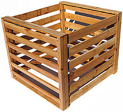 Wooden Compost bin with a lot of aeration capacity with adjustable height