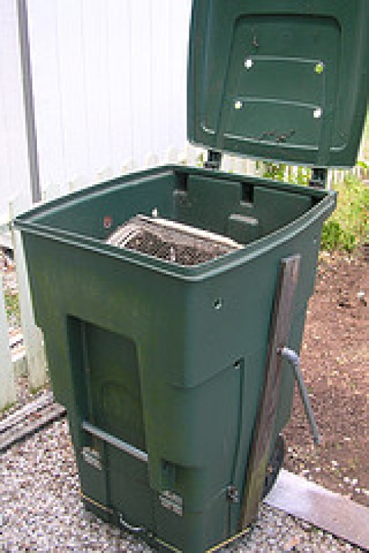You can turn your dustbin into compost bin with some modifications , but once full, it makes it difficult to mix