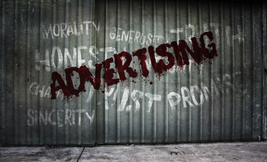 Advertising makes promises, promotes honesty, claims truth, and encourages trustworthiness and credibility.