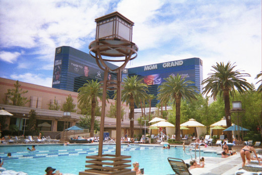 One of the pools at MGM Grand.