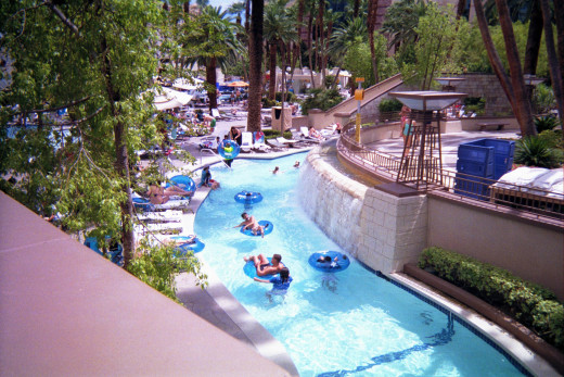 The lazy river at MGM.