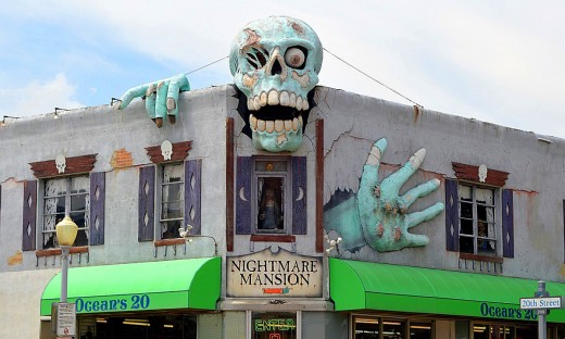 Nightmare Mansion at Atlantic Avenue and 20th Street is easy to spot.