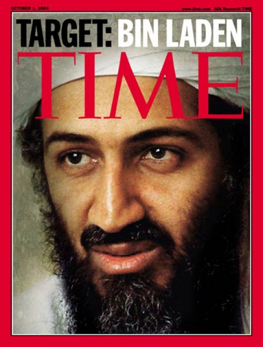 Time Magazine cover of Bin Laden
