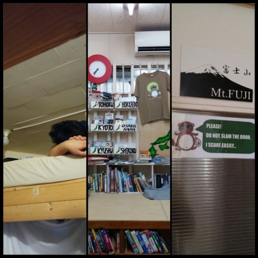 While in Tokyo, we stayed at Yadoya Guesthouse in a Mixed Dorm. There were bunk beds and the common room had lost of readings about Japan and some were free! - very helpful to tourists.