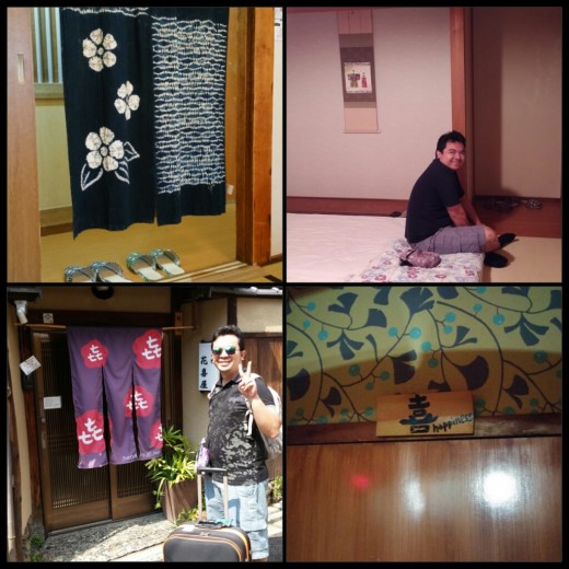 My ryokan / tatami room dream come true! This is Hanakiya Inn in Kyoto and it is a very cozy place to stay in. You will love Eimi-San, the inn's receptionist/owner, she is very helpful and warm.